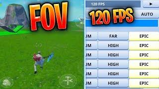 FOV Glitch 120 FPS - deux années 90 avec un saut dans Fortnite Mobile