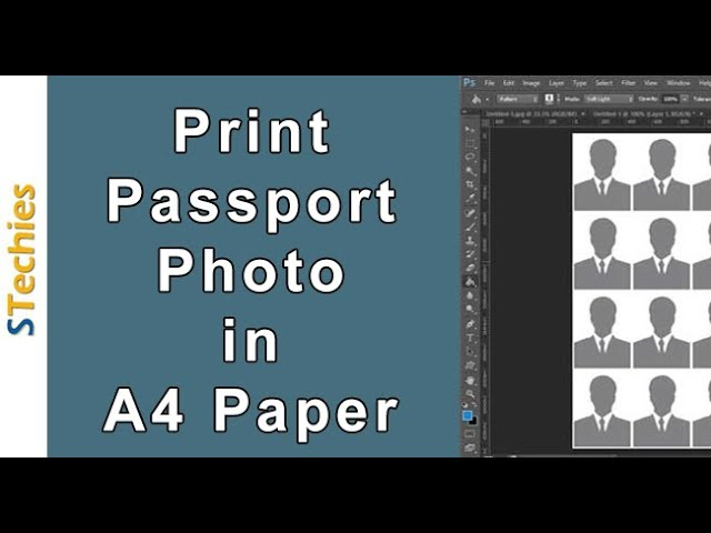 Print Passport size Photo in A4 Photo Paper Photoshop (32 Copies)