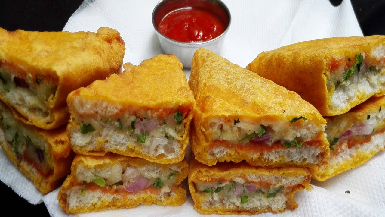 Bread Pakora recipe || How to make Potato Bread Pakora