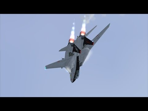 FSX F-14 Extreme Aerobatic Display at Norfolk NS [AWESOME REALISM+EXTREME GRAPHICS]