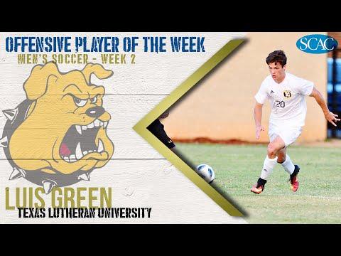 Luis Green, Texas Lutheran University, Men's Soccer Offensive Player of the Week (Week 2)
