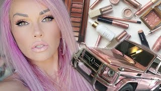 HOW MANY ROSE GOLD MAKEUP PRODUCTS CAN I PUT ON MY FACE TUTORIAL