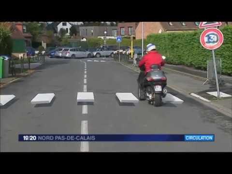 Cysoing : voici le premier passage piétons en 3D de France