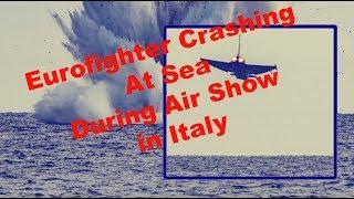 Italian Eurofighter Typhoon Jet Crashed Into Sea || Terracina, Italy !!!
