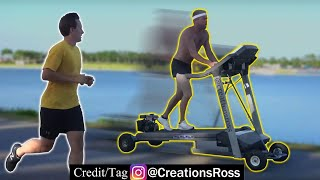 Passing Joggers on My Motorized Treadmill
