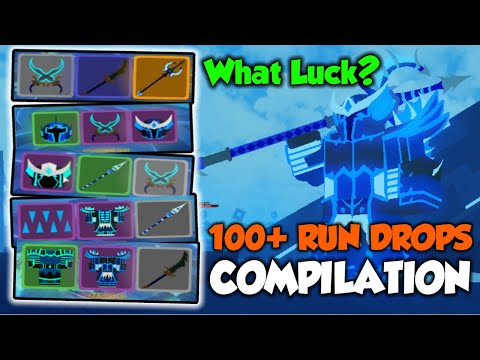 Dungeon Quest *Aquatic Temple* // 100+ Run Drops Compilation // What Luck you possibly get?