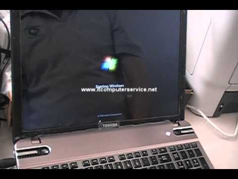 Toshiba Satellite P855-S5200 CD/DVD Boot Option - YouTube