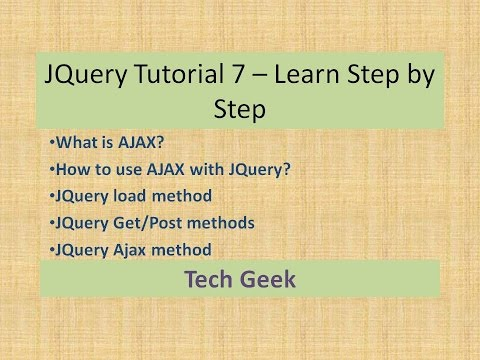 Jquery ajax use and tutorial for beginners with examples step by step.