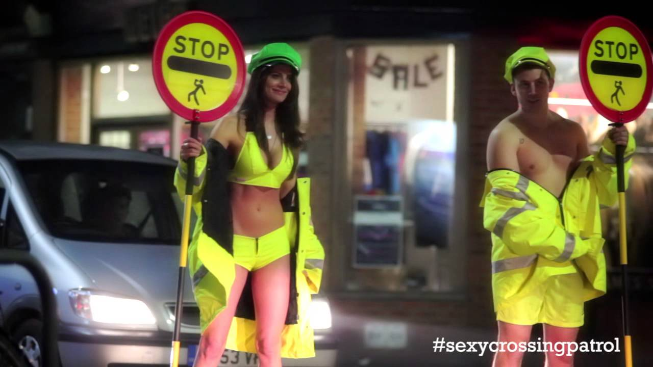 Sexy crossing guard