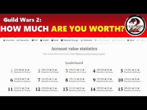 Guild Wars 2: How Much Gold Is Your Account Worth? Find Out!