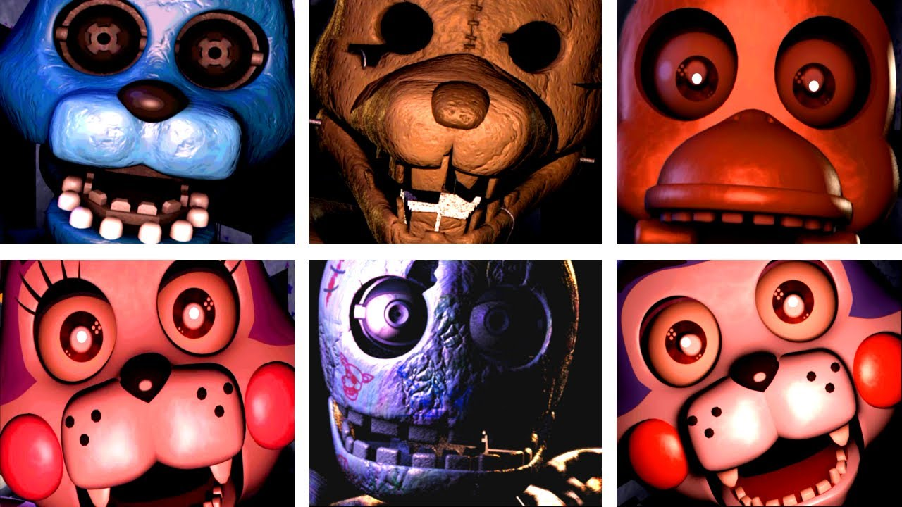 Five nights at candy s all jumpscares youtube