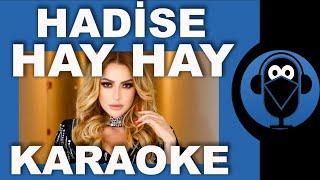 HADİSE - HAY HAY / ( Karaoke )  / Sözleri / Lyrics / Fon Müziği /Beat / COVER