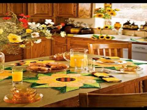 Sunflower kitchen decorating ideas - YouTube