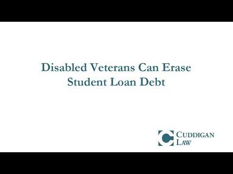Disabled Veterans Can Erase Student Loan Debt