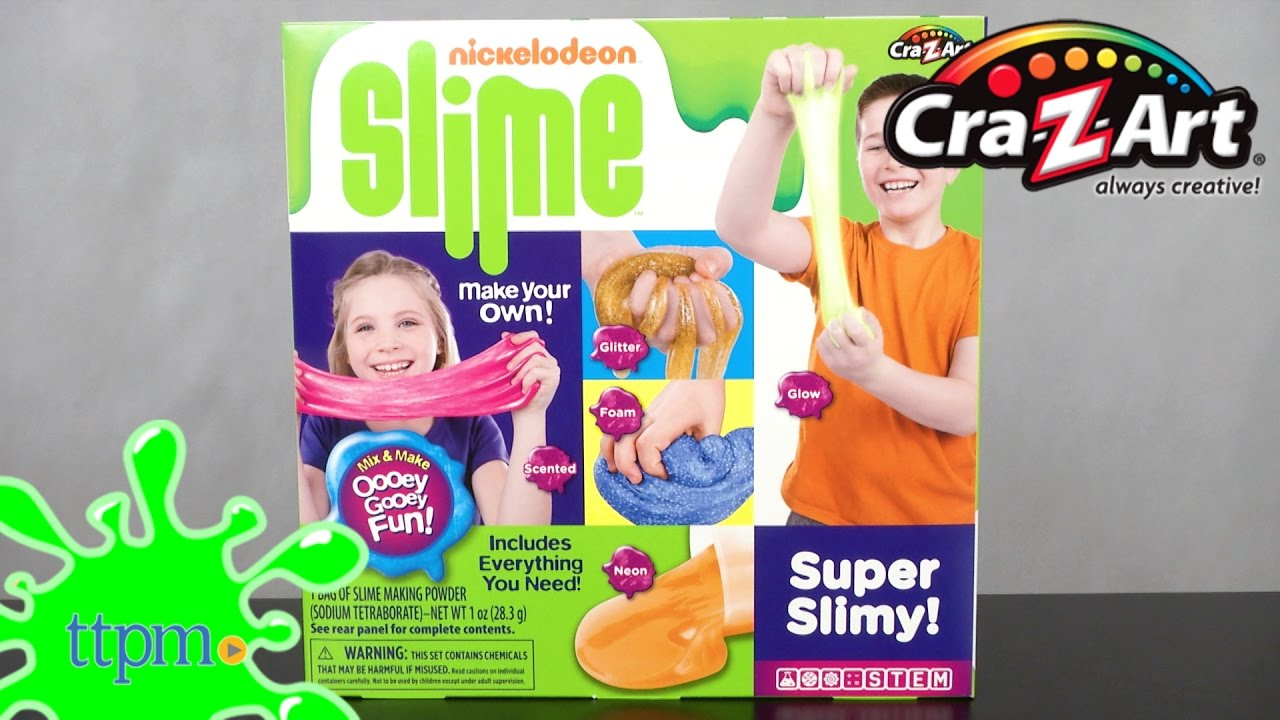Nickelodeon Slime Neon & Glow Slime Making Kit [Instructions & Review] |  Cra-Z-Art