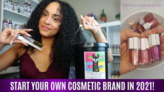HOW TO START YOUR OWN COSMETIC LINE IN 2021   Rebranding My Cosmetic Line, Haul & Vendor List! Ep.8