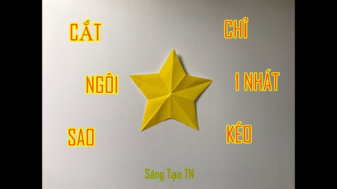 Một Nhát Kéo Cắt Ngôi Sao 5 Cánh Đơn Giản Nhất Vịnh Bắc Bộ – Cut the star with a scissors