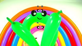 Water balloons Finger family Educational Song For children video Learn colors balloons
