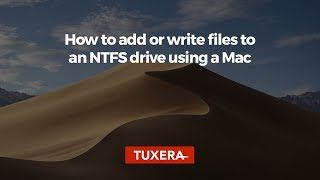 How to add or write files to an NTFS drive using a Mac