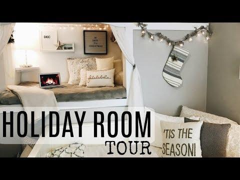 MY HOLIDAY ROOM TOUR! CHRISTMAS DECOR IDEAS!