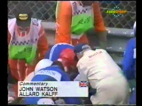 Alex Zanardi (Lotus 107B) practice crash report - 1993 Belgian Grand Prix