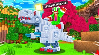 How To Ride A T-REX ROBOT In Minecraft!