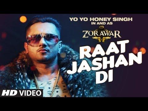 Raat Jashan Di Song Lyrics | ZORAWAR | Yo Yo Honey Singh, Jasmine Sandlas, Baani J | T-Series