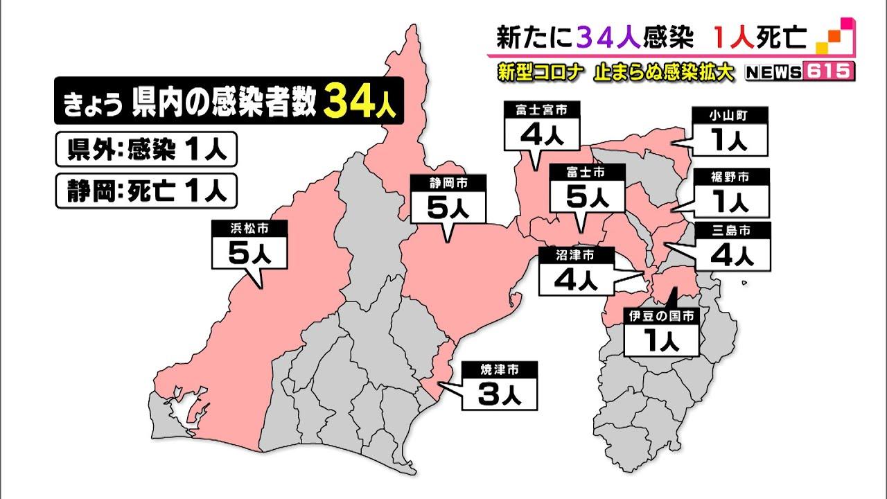 者 静岡 コロナ ウイルス 県 感染