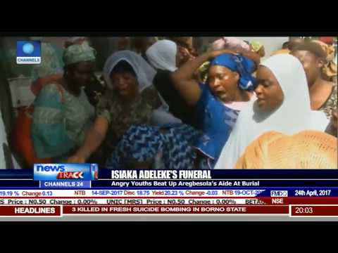 Isiaka Adeleke's Funeral: Angry Youths Beat Up Aregbesola's Aide At Burial