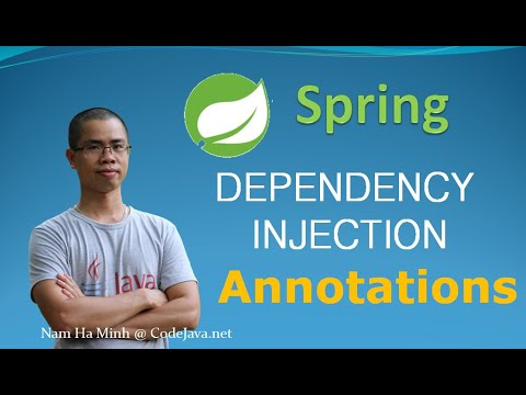 Spring Dependency Injection Example with Annotations