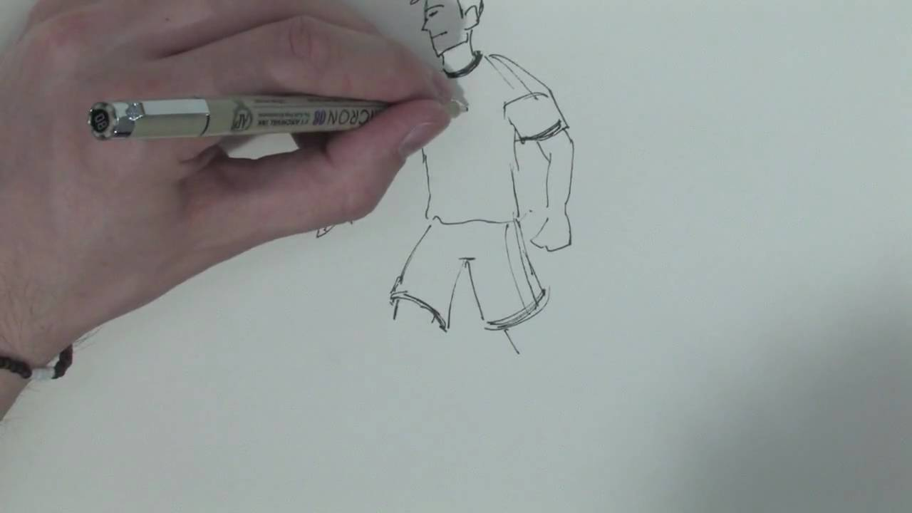 Drawing  Illustration Techniques  How to Draw a Soccer Player