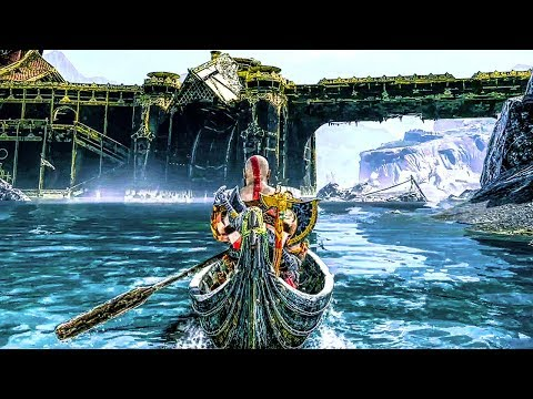 GOD OF WAR 4 ALL BOAT STORIES (God Of War All Mimir Boat Stories) PS4 PRO
