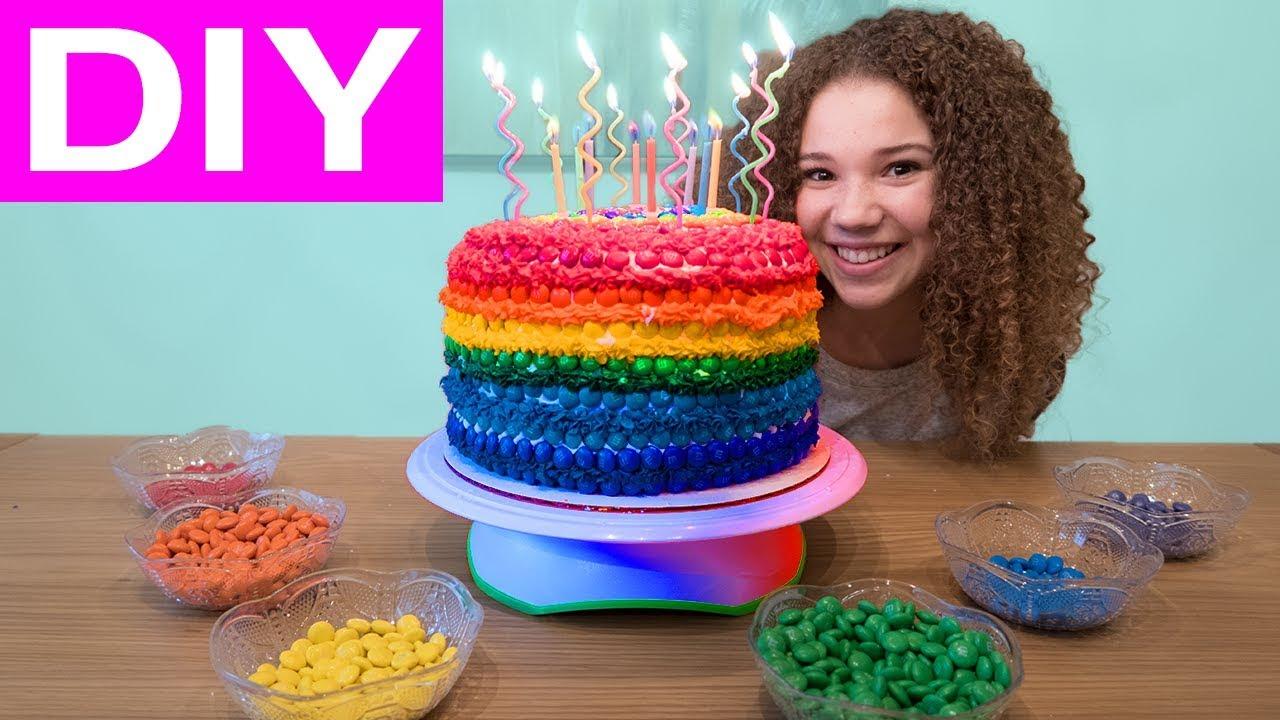 Olivias Rainbow Mm 12th Birthday Cake Youtube