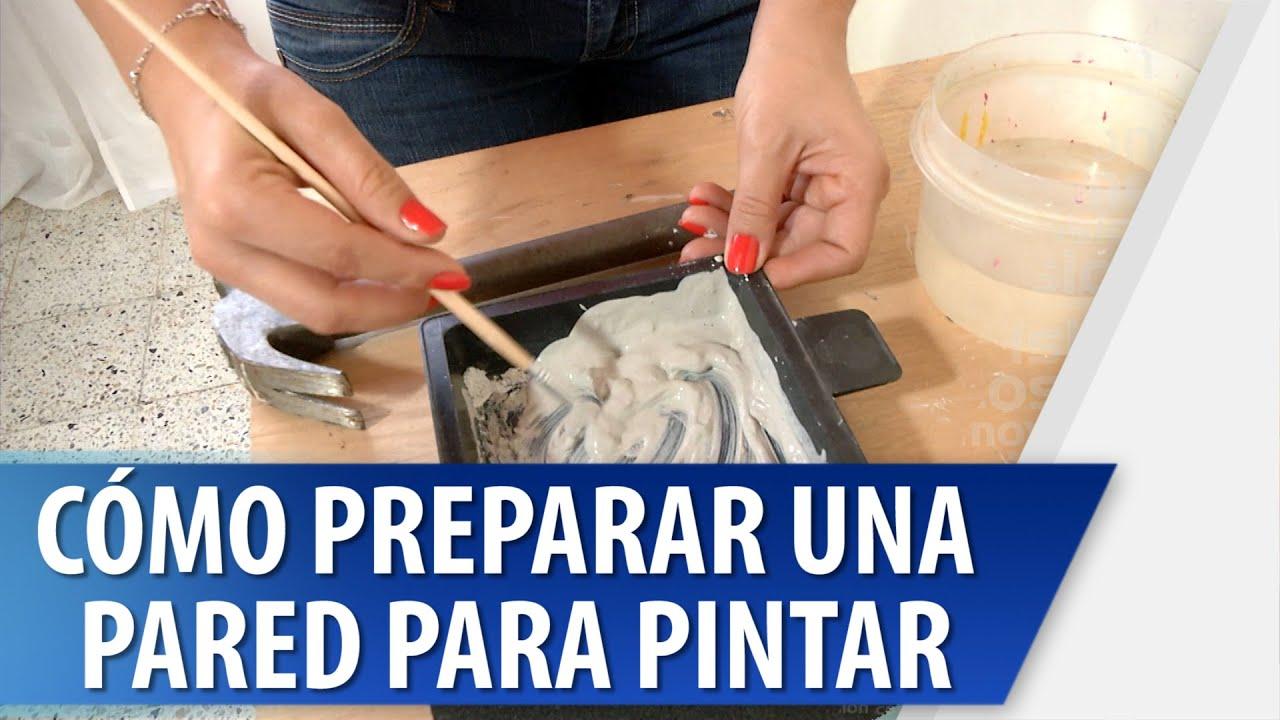 Cómo Preparar una Pared para Pintar - YouTube
