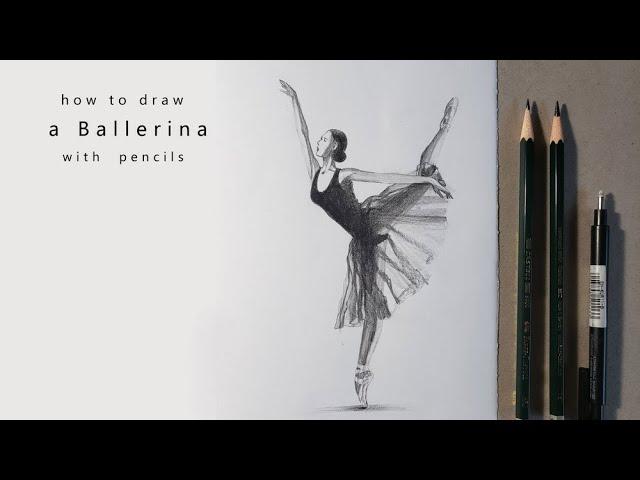 как нарисовать балерину draw a ballerina