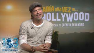 ¡Brad Pitt nos contó que no llora ante mexicanos!