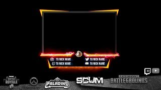 2.0 OVERLAYS for webcam style P0ME | Designs for Streamers Twitch, Youtube | PUBG, FORTNITE etc