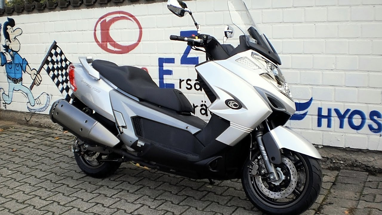 Kymco MyRoad 700i - Test Drive, Top Speed, Acceleration - YouTube