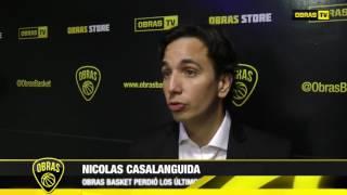 Nicolás Casalánguida Post Obras Basket 65-81 San Lorenzo
