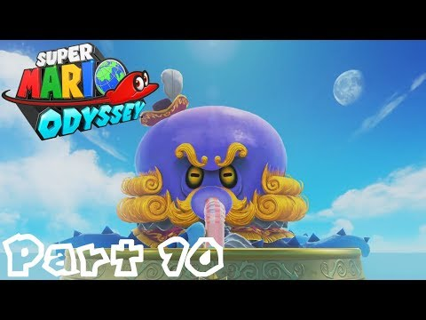 Super Mario Odyssey  Part 10: Attack the Octopus!  Seaside Kingdom