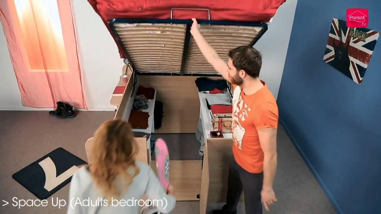 parisot space up funktionsbett ab 599 00. Black Bedroom Furniture Sets. Home Design Ideas