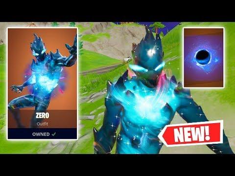 NEW ZERO Skin + BLACK HOLE Backbling Gameplay In  Fortnite!