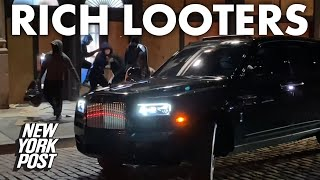 Looters flee in luxury SUVs after ransacking NYC stores | New York Post