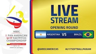 Argentina v Brazil - I U-17 Women's Softball Pan American Championship - Opening Round