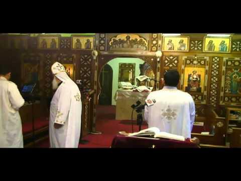 the Holy liturgy مع ابونا غريغوري بخيت، ابونا مويسيس بغدادي وأبونا ساويرس بالمقر البابوي