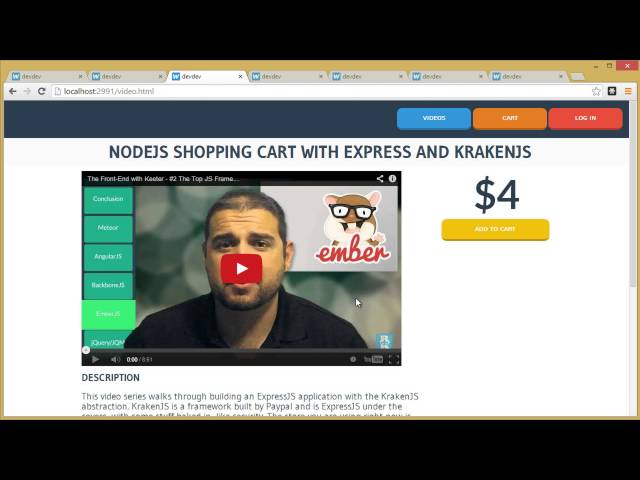 Node.js Shopping Cart - 01 - Introduce the HTML and the Site