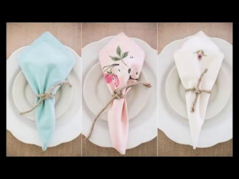Napkin Folding Ideas Youtube