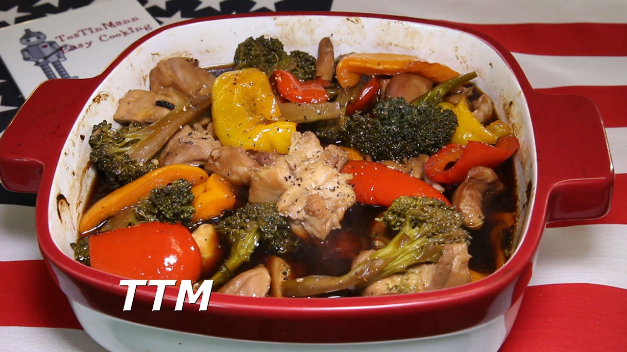 Easy Baked Chicken With Broccoli And Peppers - Youtube-3865
