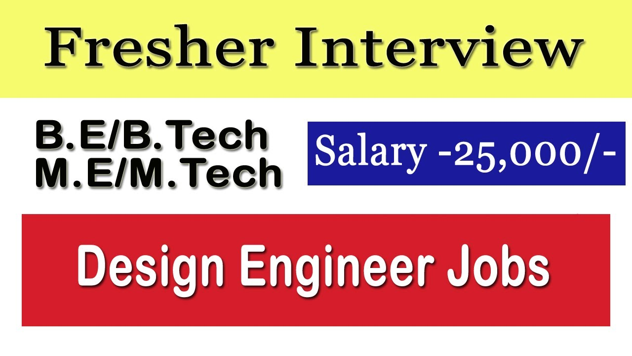 Vit Interview B E B Tech M E M Tech Fresher Interview Design Post Salary 25 000 Youtube