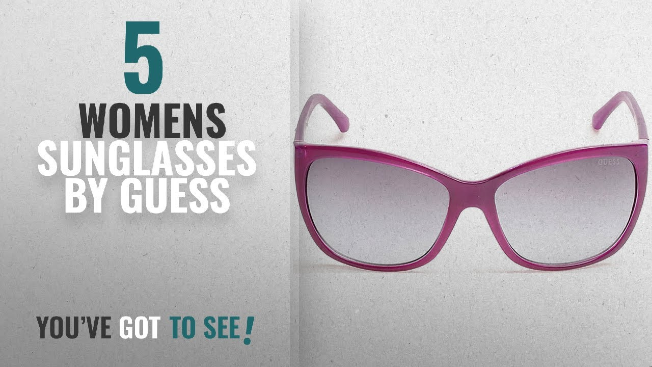 de84a32e861 Top 10 Guess Womens Sunglasses  2018   GUESS Women s Acetate Square Soft Cat -Eye Rectangular